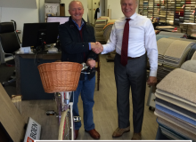 Pashley Bike Competition Winner! Cameron Lee Carpets Bristol