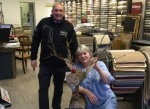 Rudolph The Reindeer! At Cameron Lee Carpets Bristol!