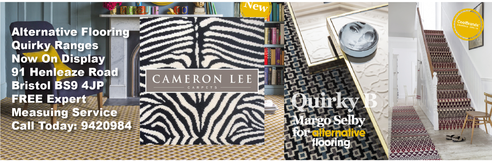 Cameron Lee Carpets Bristol Quirky Banner Alternative Flooring
